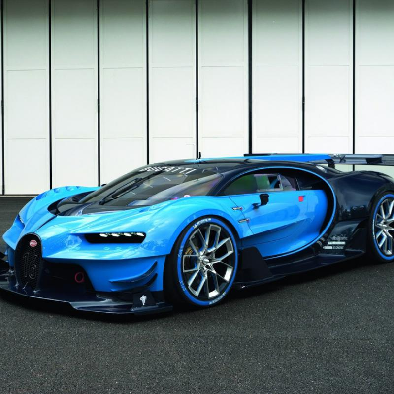 bugatti arrives to frankfurt with gran turismo car. Black Bedroom Furniture Sets. Home Design Ideas