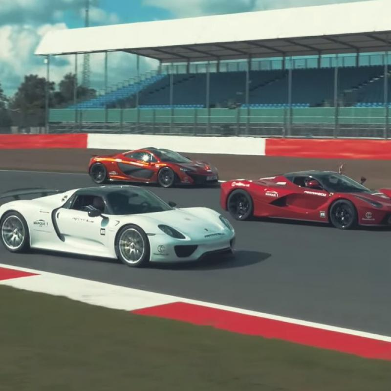silverstone invaded by supercars. Black Bedroom Furniture Sets. Home Design Ideas